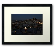 Here Comes the Night ~ Coit Tower Framed Print