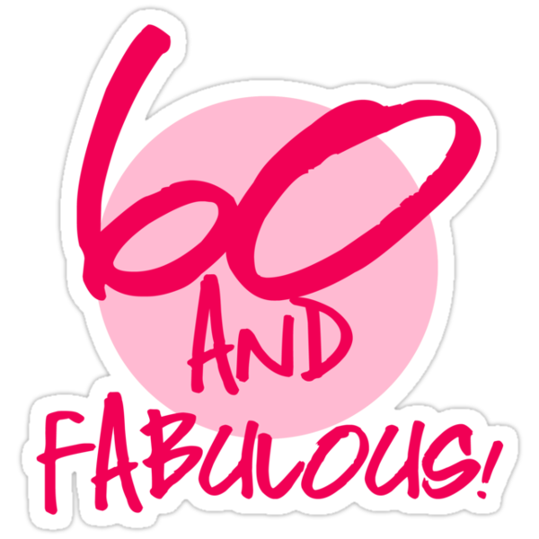 "Fabulous 60th Birthday"" Stickers by thepixelgarden 