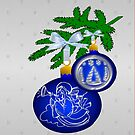 Blue Bauble I Pad Case (505 Views) by aldona