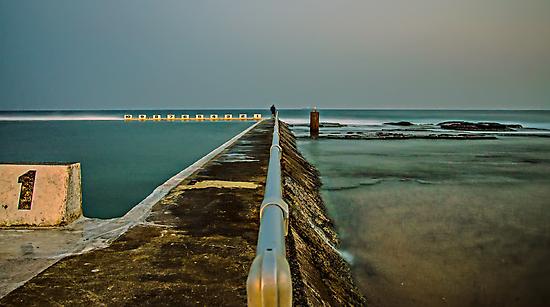 Photographer at Work.  Merewether Ocean Baths by bazcelt