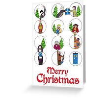 Doctor Who Christams Card - 11 Doctors Greeting Card