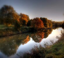 Autumn on the River Medway  by larry flewers