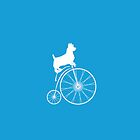 Dog on a bike by Roxana Crivat