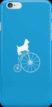 Dog on a bike by Roxana Crivat