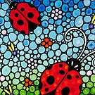 Joyous Ladies Ladybugs by Sharon Cummings