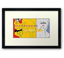 nothing in stone, bored to tears bored tired bored stiff - once and for all or last round, round round round on the merry-go-round 2  Framed Print