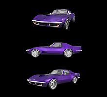 Purple 1970 Corvette by bradyarnold