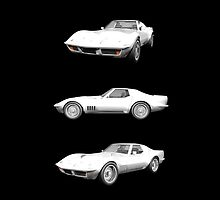 White 1970 Corvette by bradyarnold