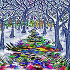"""Christmas Tree Path"" Greeting Card by Steve Farr"