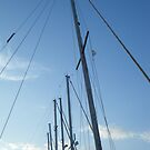 Sailing masts in Blue Sky by SlavicaB