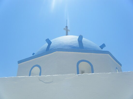 Greek Island Church in Samos by SlavicaB