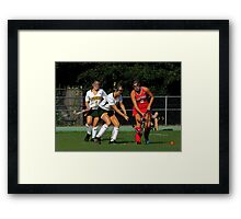 090212 129 1 comic book field hockey Framed Print