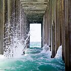 Pier Wave Break at La Jolla by Gareth Spiller