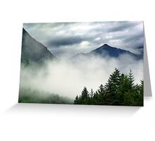 Mountain In The Mist- Mt. Terry Fox Greeting Card