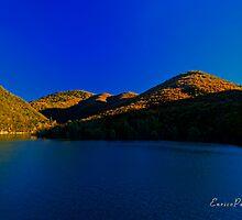 AUTUNNO Tramonto sul lago - AUTUMN Lake sunset 9918 by Enrico Pelos