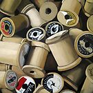 Sewing Time - realistic sewing thread spools by LindaAppleArt