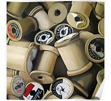Sewing Time - realistic sewing thread spools Poster