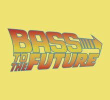 Bass to the Future (colored) Kids Clothes