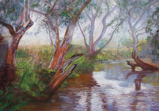Moorabool Reflections by Lynda Robinson