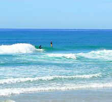 Mermaid Beach Surf ,Gold Coast Qld Australia  by Virginia  McGowan