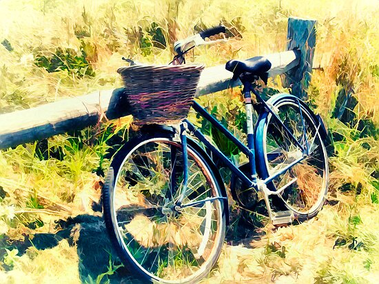 Bike at the Beach - Nantucket by Tammy Wetzel