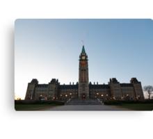Centre Block, Parliament Hill, Ottawa Canvas Print