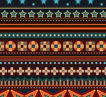 American Native Indian Pattern iPhone 5 Case / iPad Case / iPhone 4 Case / Samsung Galaxy Cases  by CroDesign