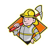 Fireman Firefighter Emergency Worker  by patrimonio