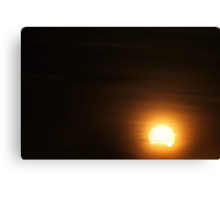 Solar Eclipse - November 14 2012 Canvas Print