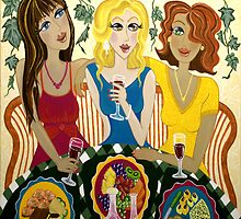 THE GIRLS CELEBRATE! by Lisa Frances Judd~QuirkyHappyArt