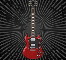 Red Electric Guitar by bradyarnold