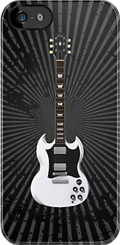 White Electric Guitar by bradyarnold