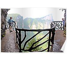 Plank Walk, Tianmen Shan, Zhangjiajie, Hunan Poster