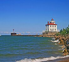 Fairport Harbor West Breakwater Light by Jack Ryan