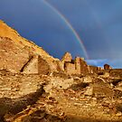 Rainbow Over Chaco Canyon by Kim Barton
