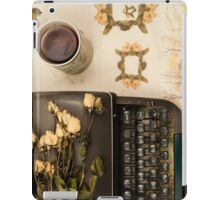 Typewriter, Tea and Dried Flowers  iPad Case/Skin