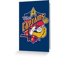 Starfleet Academy Captains Baseball Greeting Card