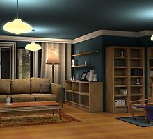Classic Living Room by Kerem Gogus
