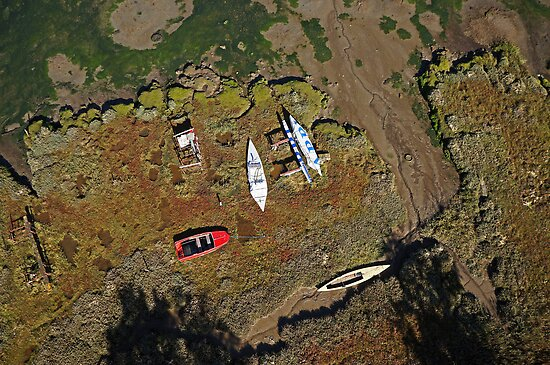 Boats on the Saltmarsh by HexCam