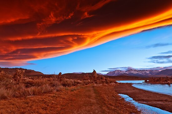 Mono Lake on fire by Owed to Nature
