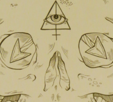Skulls and Arrows Solid Sticker
