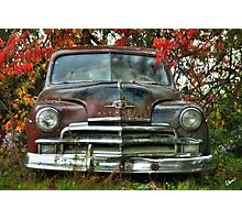 Old Rusty Plymouth - Maine Photographic Print