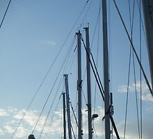 Sailboats masts in Sky by SlavicaB