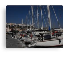 Samos Island harbor  #photography Canvas Print