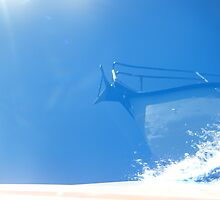 Reflection of sailboat bow in water by SlavicaB