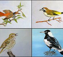 Bird Collage by Denise Martin