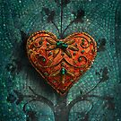 Mosaic Valentine IPad Case by Elizabeth Burton