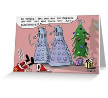 dalek xmas Greeting Card