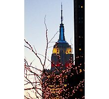 Christmas in New York City  Photographic Print