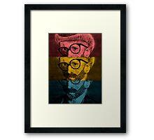Hipster Van Gogh Framed Print